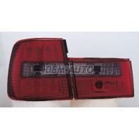 E34 Фонарь задний внешний+внутренний левый+правый (комплект) тюнинг (СЕДАН) прозрачный с диодами (SONAR) тонированный внутри красно-тонированный
