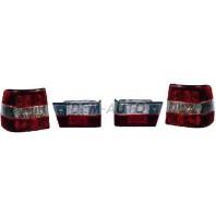 E34 Фонарь задний внешний+внутренний левый+правый (комплект) (СЕДАН)тюнинг прозрачный хрустальный красно-белый