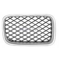 E36 Решетка радиатора правая тюнинг диагональная сетка (Италия) хромированная-черная