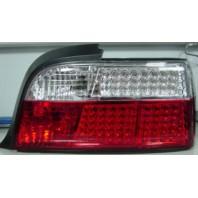Фонарь задний внешний левый+правый (КОМПЛЕКТ) (КУПЕ) (кабриолет)диодный стоп сигнал , указатель поворота хрустальный красно-белый