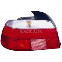 E39  Фонарь задний внешний левый габарит прозрачный хрустальный красно-белый