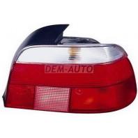 E39  Фонарь задний внешний правый габарит прозрачный хрустальный красно-белый