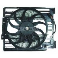 E39  Мотор+вентилятор конденсатора кондиционера с корпусом с 4 штекерами