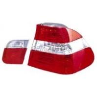 E46 Фонарь задний внешний+внутренний левый+правый (комплект) (СЕДАН)тюнинг хрустальный красно-белый