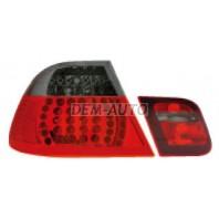 E46  Фонарь задний внешний+внутренний левый+правый (комплект) (СЕДАН)тюнинг прозрачный с диодами (EAGLE EYES) красно-тонированный