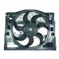 E46 Мотор+вентилятор конденсатора кондиционера с корпусом