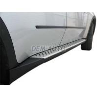 X5 Порог-подножка левая+правая (комплект) OEM STYLEалюминиевые