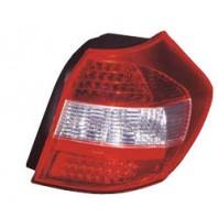 E87 Фонарь задний внешний левый+правый (КОМПЛЕКТ) тюнинг (ХЭТЧБЭК)хрустальный с диодным габаритом , стоп сигналом красно-белый