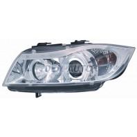 E90  Фара левая+правая (КОМПЛЕКТ) тюнинг линзованная с 2 светящимися ободками +/- под корректор (SONAR) внутри хромированная