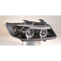 E90 Фара левая+правая (КОМПЛЕКТ)тюнинг линзованная с 2 светящимися ободками +/- под корректор (SONAR) внутри черная