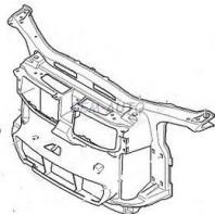 E90  Суппорт радиатора пластиковый