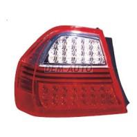 E90  Фонарь задний внешний левый+правый (КОМПЛЕКТ) тюнинг диодный прозрачный красный