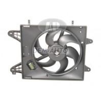 Brava {bravo/marea} Мотор+вентилятор радиатора охлаждения 1.4 1.6 с кондиционером с корпусом