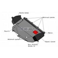 Ducato  Защита поддона двигателя + кпп с , креплением , сталь