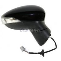 Fiesta  Зеркало правое электрическое с подогревом  с указателем поворота, 5 контактов (CONVEX), грунтованное