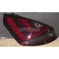 Fiesta  Фонарь задний внешний левый+правый (комплект) (5 дв), тюнинг, диодный, с красными светящимися секциями, тонированный (JUNYAN), внутри хромированный