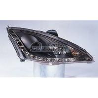 Focus Фара левая+правая (КОМПЛЕКТ)тюнинг линзованная (DEVIL EYES) (SONAR) внутри черная на Ford Focus - I поколение
