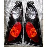 Focus Фонарь задний внешний левый+правый (комплект) (5 дв) тюнинг (LEXUS тип) прозрачный хромированно-черный