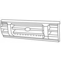 Решетка радиатора центральная