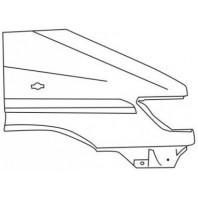 Крыло переднее правое с овальным отверстием под повторитель