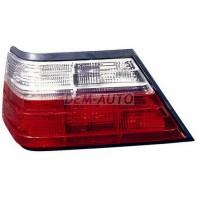 W124 Фонарь задний внешний левый тюнинг прозрачный хрустальный красно-белый