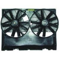 W124 {300/320/400/420/500} Мотор+вентилятор радиатора охлаждения двухвентиляторный с корпусом