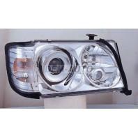 W124 Фара левая+правая (комплект) тюнинг линзованная с 2 светящимися ободками литой указатель поворота (SONAR) внутри хромированная