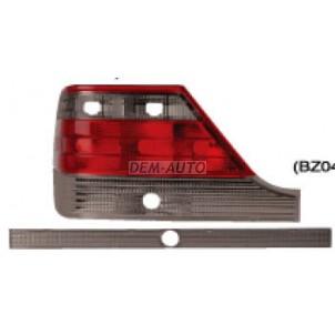 W140 Фонарь задний внешний левый+правый (комплект) с центральным молдингом тюнинг хрустальный (EAGLE EYES) красно-тонированный для Mercedes - W140 sedan