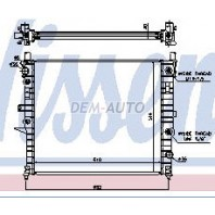 W163/ml Радиатор охлаждения (NISSENS) (см.каталог)