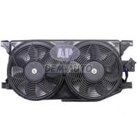 W163/ml Мотор+вентилятор радиатора охлаждения двухвентиляторный в сборе