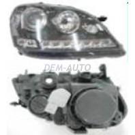 W164/ml  Фара левая+правая (комплект) тюнинг линзованная с диодами с регулировочным мотором внутри черная