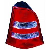 W168/a Фонарь задний внешний правый красно-хромированный