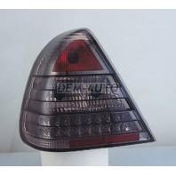 Фонарь задний внешний левый+правый (комплект) тюнинг (седан) прозрачный с диодами (SONAR) тонированный внутри хромированный