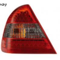 W202 Фонарь задний внешний левый+правый (комплект) тюнинг (седан) с диодами (EAGLE EYES) красно-тонированный