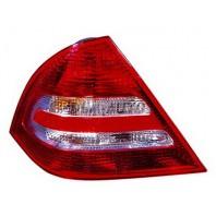 W203  Фонарь задний внешний левый+правый (комплект) тюнинг с диодным стоп-сигналом хрустальный красно-белый