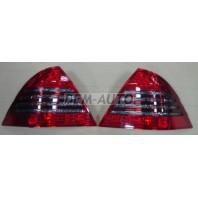 W203  Фонарь задний внешний левый+правый (комплект) тюнинг с диодным стоп сигналом (EAGLE EYES) красно-тонированный