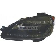W204 Фара левая+правая (комплект) тюнинг (ксенон) (DEVIL EYES) с регулировочным мотором внутри черная