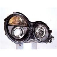 W210  Фара левая+правая (комплект) тюнинг дизайн (е класс 2003) линзованная (SONAR) внутри черная