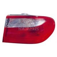 W210 Фонарь задний внешний правый (EAGLE EYES) красный-белый