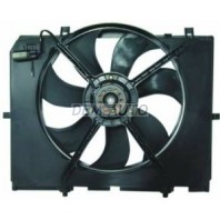 {W202 C280} Мотор+вентилятор радиатора охлаждения с корпусом (Temic-тип)
