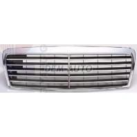 W210 Решетка радиатора (AVANTGARD) черная хромированная