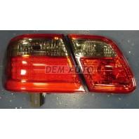 W210 Фонарь задний внешний+внутренний левый+правый (комплект) тюнинг (седан) прозрачный с диодным габаритом,стоп-сигналом тонированно-красный