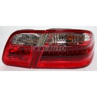 W210 Фонарь задний внешний+внутренний левый+правый (комплект) тюнинг (седан) прозрачный с диодным габаритом,стоп-сигналом (EAGLE EYES)