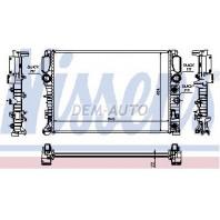 W211 Радиатор охлаждения(NISSENS) (NRF) (GERI) (см.каталог)