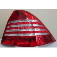 W220  Фонарь задний внешний левый+правый (комплект) с диодным стоп-сигналом красно-хромированный