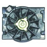 Astra  Мотор+вентилятор конденсатора кондиционера с корпусом
