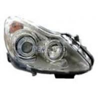 Corsa  Фара левая+правая (КОМПЛЕКТ) тюнинг линзованная с светящимся ободком внутри хромированная