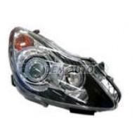 Corsa  Фара левая+правая (КОМПЛЕКТ) тюнинг линзованная с светящимся ободком внутри черная
