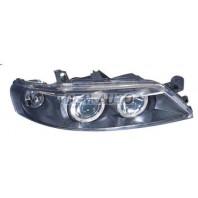 Vectra Фара левая+правая (комплект) тюнинг линзованная с 2 светящимися ободками с литым указателем поворота под корректор внутри черная