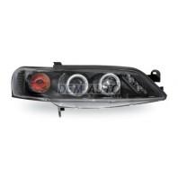 Vectra Фара левая+правая (комплект) тюнинг линзованная с светящимся ободком литой указатель поворота